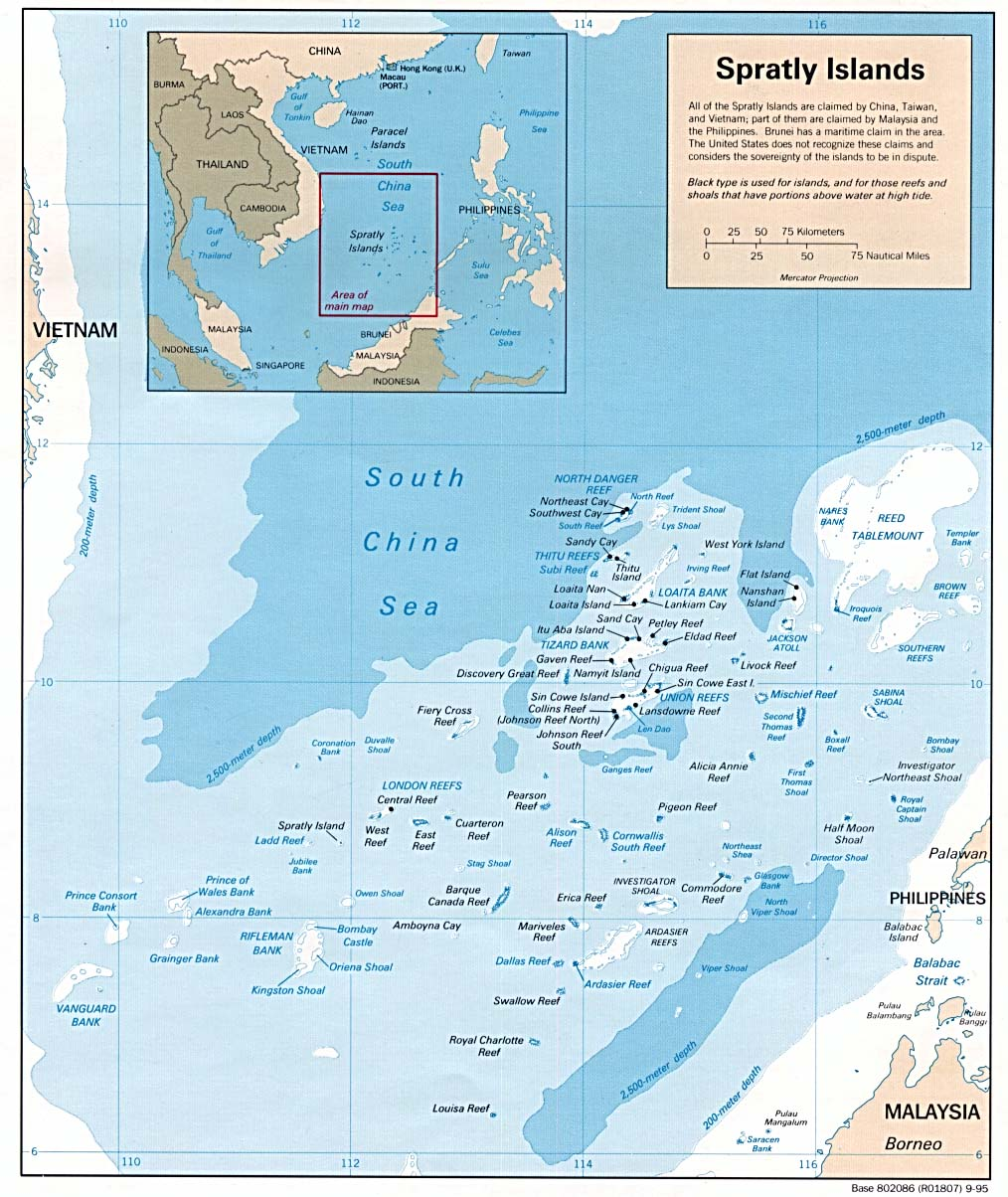 Description: Spratly Islands Map 1995